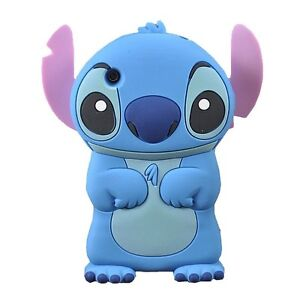 IPod Touch 4 4th Generation 3D Disney Stitch Soft Silicone Character Case - B/P