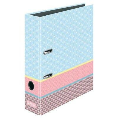 Herlitz Motivordner Graphic Pastels Blue 80mm 8cm DIN A4 Aktenordner Büro