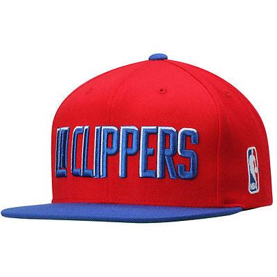 LOS ANGELES CLIPPERS Mitchell & Ness XL Logo 2 Tone Snapback NBA Hat Snap Cap LA