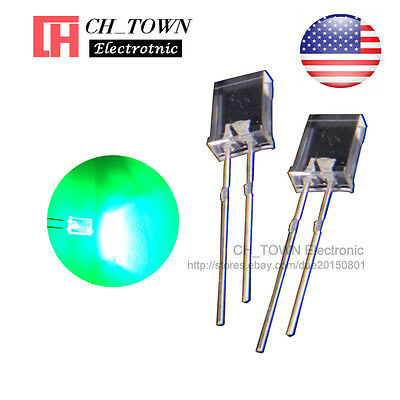100pcs 2x5x7mm Water Clear Green Light Rectangle Rectangular Square Led Diodes