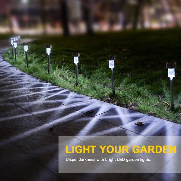 10//20Pcs Solar Powered LED Garden Lights Post Patio Outdoor Colour Changing Lamp