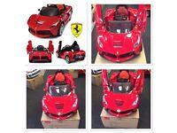 La Ferrari 12v, New, Boxed Parental Remote Control, Self Drive In Red