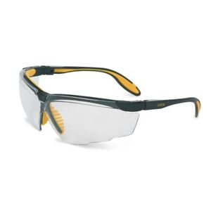Uvex Genesis X2 Safety Glasses with Clear Lens, Black Frame