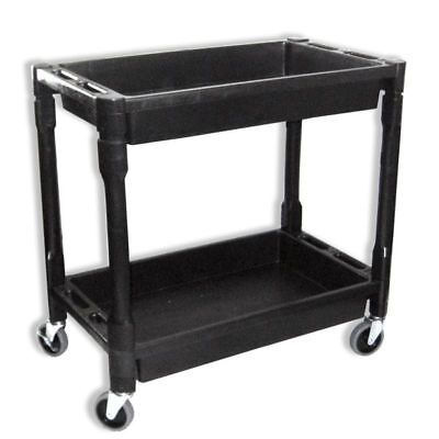 Heavy Duty Utility Service Cart 2 Layers Rolling Cart Wagon 300 Lbs