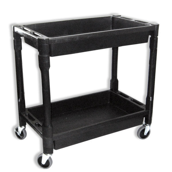 Heavy Duty Utility Service Cart | 2 Layers Rolling Cart Wagon 300 lbs