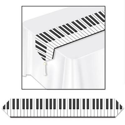 MUSICAL NOTES PRINTED TABLE RUNNER 11 INCH X 72 INCH FOR YOUR THEMED PARTY - Table Themes For Parties