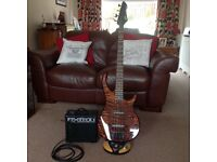 Peavey bass guitar and amp.