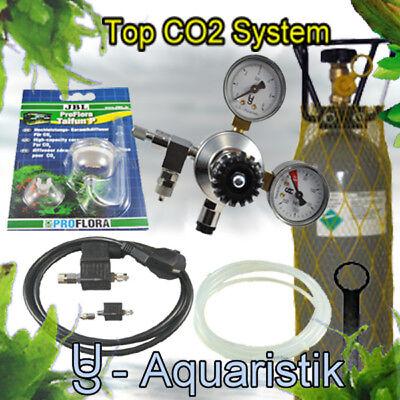 CO2 Anlage 2kg  ca. 400 l   mit Magnetventil- Nachtabschaltung - SE - 2 Magnetventil