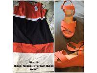 ORANGE/BLACK/WHITE DRESS, BNWT