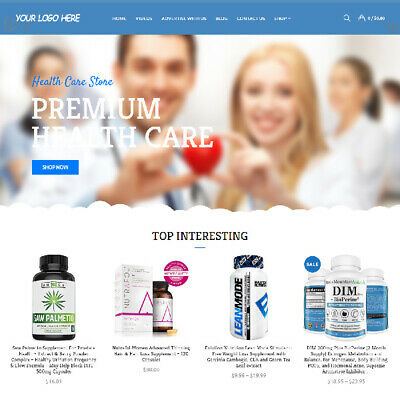 Health Care Affiliate Online Business Website For Sale Mobile Friendly Added