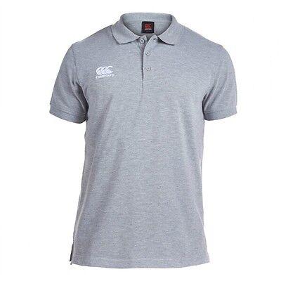 Canterbury Men's Waimak Rugby Polo T-Shirt / Top Grey Size Small