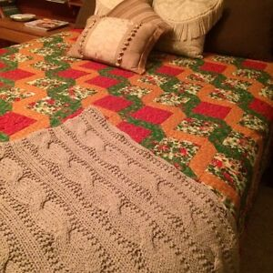 Large colourful hand stitched quilt Kawartha Lakes Peterborough Area image 2
