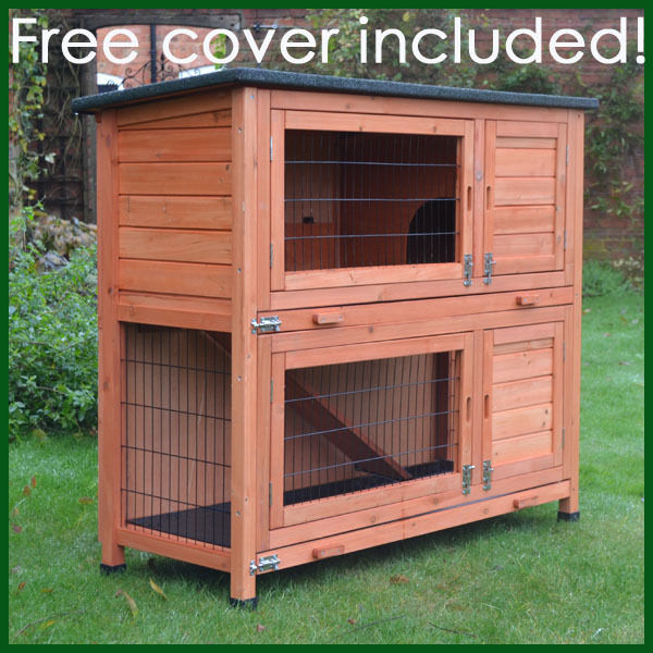 Feel good uk 2 tierrabbit hutch guinea pig hutches ferret for Diy guinea pig cages for sale