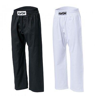 Baumwollhose von KWON. 100% Baumwolle, weiß  150-210cm. Karate, Ju Jutsu, usw.