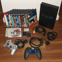 PS2 Console + 13 Games + 2 Controls + 3 Memory Card