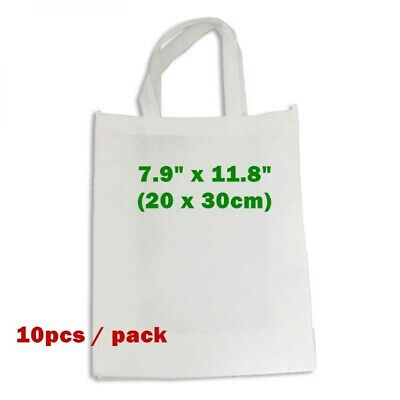 10pcs 7.9 X 11.8 Blank Sublimation Non-woven Shopping Bags Tote Bags