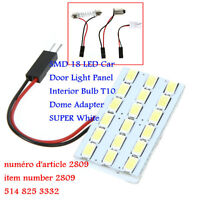 SMD 18 LED Car Door Light Panel Interior Bulb T10 Dome