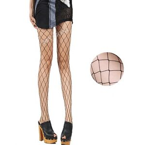 Lady's Women's Black Sexy Fishnet Pattern Jacquard Stockings Pantyhose Tights