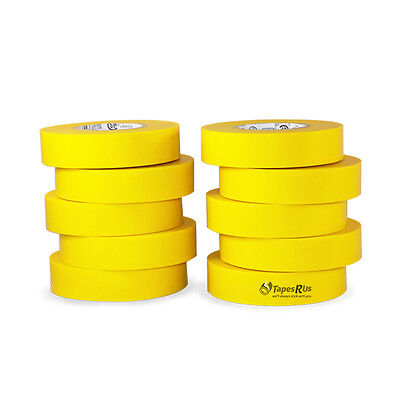 Tapessupply 10 Rolls Pack Yellow Electrical Tape 34 X 66 Ft