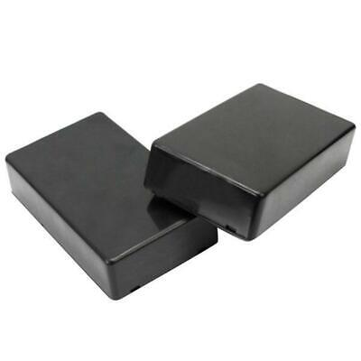 3pcs Abs Plastic Enclosure Box For Electronic Project Circuit Black Case Diy