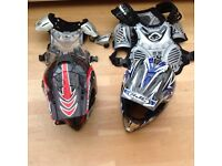 Motocross helmets and armour