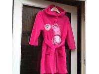 Girls dressing gown/slipper set