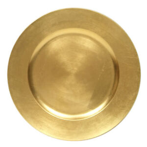 Plastic Silver /  Gold Charger Plate for rent - Special $0.50