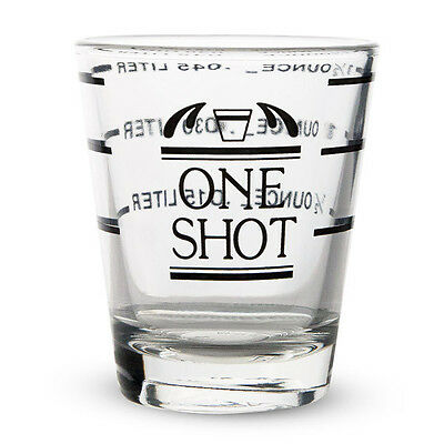 Measured Shot Glass - 1 1/2 oz - Half Ounce Measurements - Home Bar Drink Mixing](1 Oz Shot Glass)