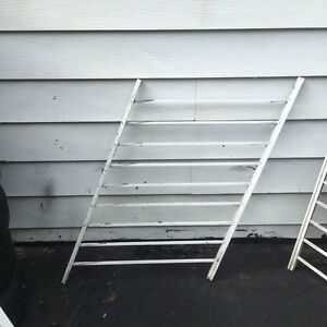 Aluminum stairs or fence with door