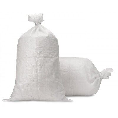 100 x Poly Sandbags Sand Bags Flood Sacks Defence Protection Flooding Rubble