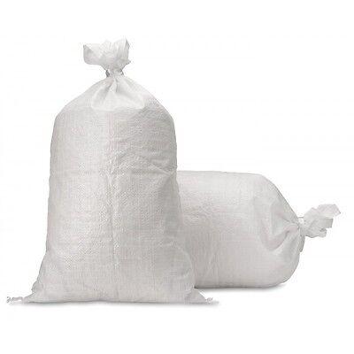 100 x Poly Sandbags Sand Bags Flood Sacks Defence Protection Flooding Rubble