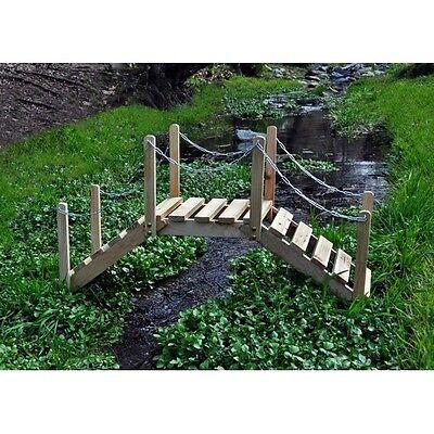 Shine Company 3 Ft. Decorative Garden Bridge Decorative Use Only - Natural NEW