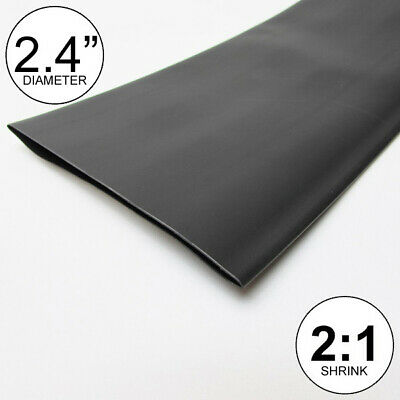 2.4 Id Black Heat Shrink Tube 21 Ratio Polyolefin Feetftto 60mm 8 Inch