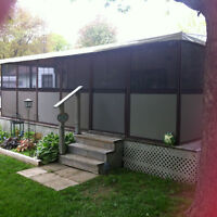 32' Park Model Trailer with Screen/Panel Room (must be moved)