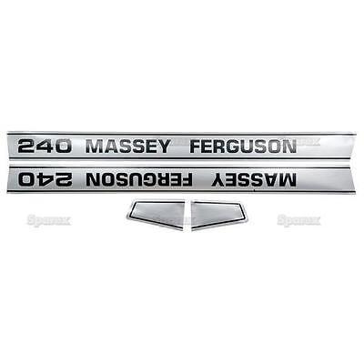 Decal Kitset For Massey-ferguson Mf 240 Mf240 Tractor Hood - Sparex Quality