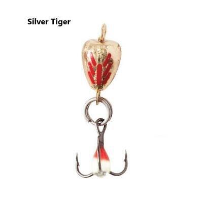 Clam JM Custom Rattlin Blade Spoon Silver Glow Rainbow Tiger 1//8 oz #8 Treble