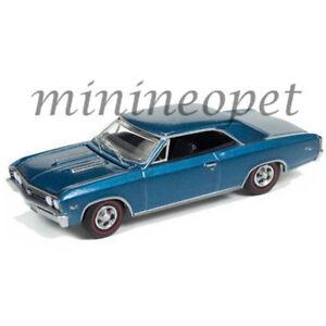AUTOWORLD AW64132-24A 1967 67 CHEVROLET CHEVELLE SS 1/64 DIECAST MARINA BLUE