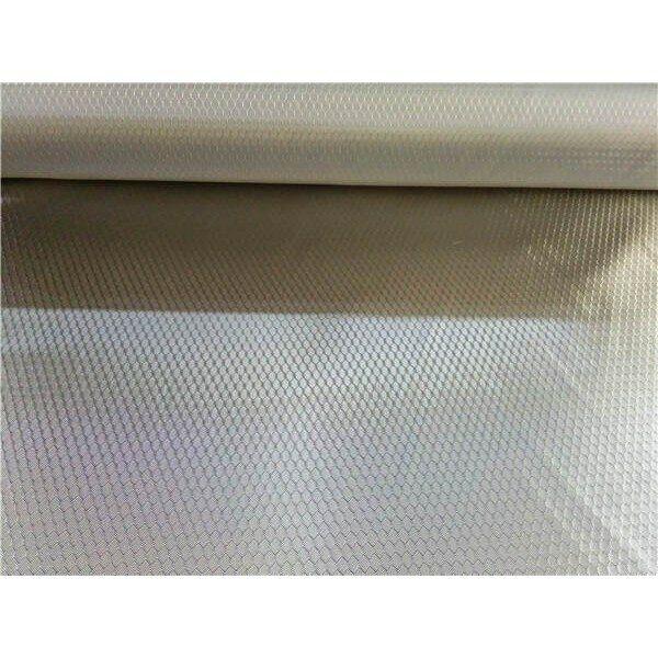 "240gsm honeycomb pattern glass fibre plating Silver fabric 20""/50cm x 110cm"