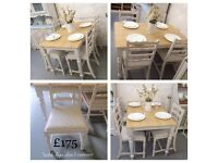Beautiful solid oak table and chairs
