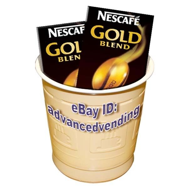 In cup Nescafe Gold Blend white coffee 73mm incup vending ...