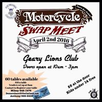 MOTORCYCLE SWAPMEET(Get your table!!!)