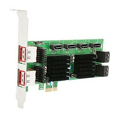 Syba SD-PEX40105 8 Port Sata Iii And Esata 6G Pci-E 2.0 X1 Card NEW