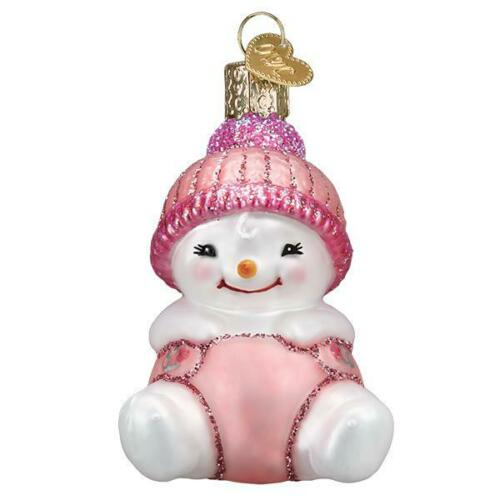 """Snow Baby Girl"" (24191)X Old World Christmas Glass Ornament w/ OWC Box"