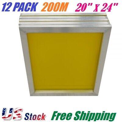 12 Pack Aluminum Frame Silk Screen Printing Screens 20 X 24 200 Mesh Count