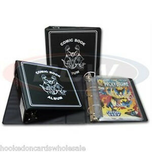 1-BCW-3-Comic-Book-Collector-Album-Binder-Black