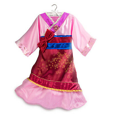 NWT DISNEY STORE PRINCESS MULAN COSTUME DRESS GOWN KIMONO 7/8 9/10 Girls - Girls Mulan Costume