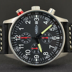 ASTROAVIA AIR CRAFT No.9L - 6 ZEIGER PROFI CHRONOGRAPH FLIEGERUHR NEU