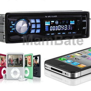 Car Audio Stereo In Dash Fm Receiver With Mp3 Player & USB SD Input AUX Receiver