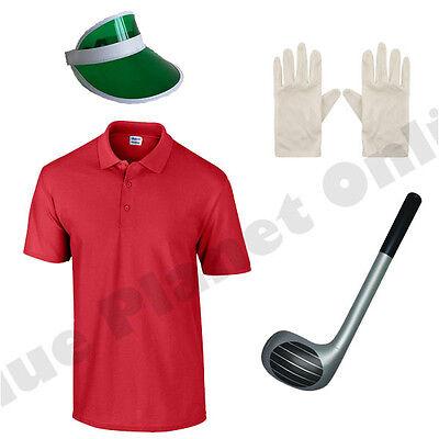 MENS ADULTS PUB GOLF GOLFER GOLFING FANCY DRESS COSTUME & CLUB STAG - Pub Golf Kostüm