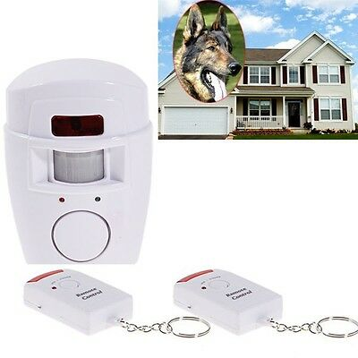 Home Security Wireless Alarm System IR Motion Sensor Detector + 2 Remote - Ir Motion Detector